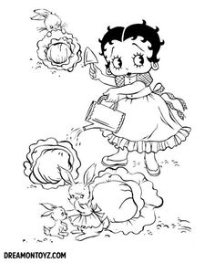 betty boop birthday coloring pages - photo#26