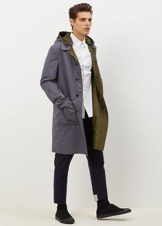 Totokaelo MAN - Jil Sander Dark Green Giappone Rev Coat Jil Sander, Army Coat, Men's Fashion, Lookbook, What To Wear, Sportswear, Raincoat, Casual Outfits, Handsome