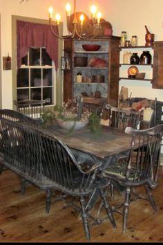 Country Home Decor Primitive Kitchen Curtains