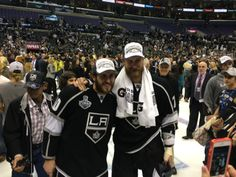 Richards and Carter 2014 Los Angeles Kings, Stanley Cup champions: Sights from the ice (Gallery)