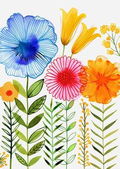 Flowers Watercolor Background Water Colors 28 Ideas For 2019 Watercolor Cards, Watercolor Background, Watercolor Flowers, Watercolor Paintings, Motif Floral, Art Floral, Floral Wall, Pinterest Pinturas, Art And Illustration