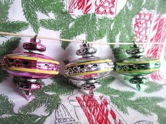 Vintage Set Of 3 Atomic Space Age Christmas by AuntSuesVintage, $23.99