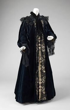 Evening Coat, House of Worth 1905, French, Made of silk and lace