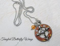 Washer Pendant Necklace  www.TangledButterflyWings.com