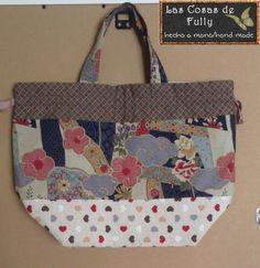 Japanese drawstring fabric bag