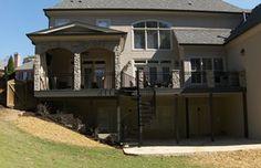 #GA #stone #patio #spiralstairs