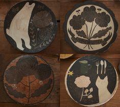 しろくま、花、蝶、猫。 モチーフはどれもメルヘンチックなのに、 どこかぴりっと心地よい毒のある、 大人のウィットに富んだデザイン。 想像させるのは、 ハッピーエンドでは終わらない、 古い童話の挿絵 Kagoshima, Okinawa, Surface Design, Cool Kitchens, Cool Art, Pottery, Clay, Kitty, Kawaii