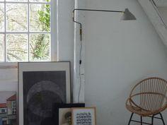 Wandlampe grau Arbeitslampe Potence Handmade Wall Lampe Vintage  Design
