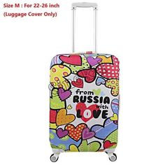 Bright Palm Leaf Green Travel Luggage Protector Case Suitcase Protector For Man/&Woman Fits 18-32 Inch Luggage