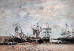Eugène Boudin - Port de Portrieux (1873)