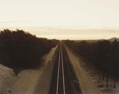 Richard Misrach, Train Tracks, Colorado Desert, 1984