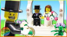 LEGO Toys - Wedding Favor Set - Bride and Groom minifigures Stop motion Build Motion Video, Stop Motion, Lego Duplo Sets, Frozen Sisters, Disney Princess Frozen, Lego Toys, Celebrity Weddings, Wedding Favors, Groom