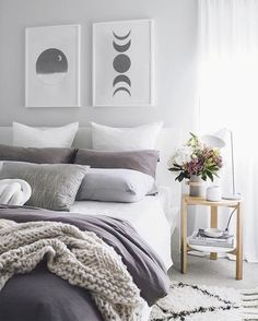 and White Bedroom Ideas New Grey White Purple Bedroom New 41 Awesome Purple. and White Bedroom Ideas New Grey White Purple Bedroom New 41 Awesome Purple. Abstract Geometric Lines Female Shapes Canvas Trendy Bedroom, Modern Bedroom, Bedroom Vintage, Purple Master Bedroom, Purple Bedroom Decor, Purple Bedroom Accents, Bedroom Neutral, Girls Bedroom, Contemporary Bedroom