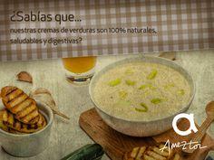 ¿Sabías que nuestras cremas de verduras son 100% naturales, saludables y digestivas? #Ameztoi