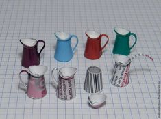 Easy-to-Do: Miniature Enamelled Bucket, фото № 23 Dollhouse Miniature Tutorials, Miniature Crafts, Diy Dollhouse, Dollhouse Miniatures, Victorian Dollhouse, Modern Dollhouse, Miniature Houses, Miniature Dolls, Diy Barbie Furniture