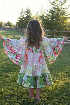 Hazel& Hippie Dress PDF Pattern size months to size 8 Little Girl Outfits, Little Girl Fashion, Kids Outfits, Hippie Dresses, Hippie Outfits, Girls Dresses, Hippie Kids, Create Kids Couture, Sewing Kids Clothes