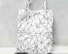 White Diamond High Quality Canvas tote bag