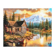 Diy Diamond Painting Scenic Garden House Cross Stitch Kits Full Rhinestone Ribbon Embroidery Landscape Crafts Home Decor Scenery Pictures, Landscape Pictures, Nature Pictures, Landscape Paintings, Beautiful Pictures, Beautiful Scenery, Scenery Paintings, Realistic Paintings, Acrylic Paintings