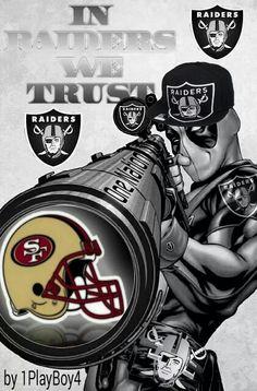 In Raiders we trust Okland Raiders, Raiders Pics, Raiders Players, Raiders Stuff, Oakland Raiders Football, Raiders Baby, Chicano, Raiders Tattoos, Raiders Wallpaper