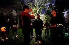 Glowing in the dark... in Volunteer Park! That's right ladies and gentlemen, capture the flag... with people running around in the dark wearing bright neon GLOW STICKS! This game is guaranteed to be a