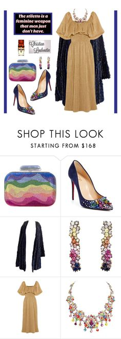 """""""Christian Louboutin#2"""" by confusgrk ❤ liked on Polyvore featuring Judith Leiber, Christian Louboutin, Missoni, Ana Khouri, Emilia Wickstead, contestentry and AmiciMei"""
