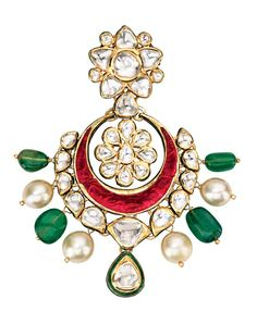 Uncut diamond earrings, Khanna Jewellers