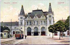 Timisoara - 1909 - Gara Josefin şi piaţa din faţa acesteia Mansions, Architecture, House Styles, Photography, Arquitetura, Photograph, Manor Houses, Villas, Fotografie