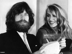 A bearded Mick Jagger, singer of British rock group The Rolling Stones, in Paris with his girlfriend, Texan model Jerry Hall, at one point the girlfriend of Roxy Music singer Bryan Ferry.