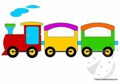 Tren de fieltro con moldes03 Art Drawings For Kids, Drawing For Kids, Easy Drawings, Easy Coloring Pages, Coloring Books, Preschool Classroom, Preschool Activities, School Board Decoration, Preschool Pictures