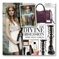 """White dress"" by stylemoi-offical ❤ liked on Polyvore featuring moda, Vera Wang, Raye, NARS Cosmetics, Shiseido, Givenchy y stylemoi"