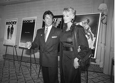 May 22, 1986 Sylvester Stallone stands with his wife, Brigitte Nielsen, on May 22, 1986. He announced that he had signed a contract with United Artists Studios.