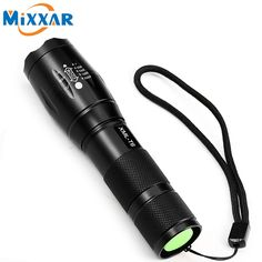 ZK90 E17 XM-L T6 4000LM LED Flashlight Tactical 5 Mode Zoomable Flashlight CREE LED Torch Light For 18650 or 3xAAA Battery