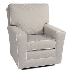 Love the clean lines of this nursery glider chair
