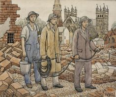 'Study for A Fire Guard Team, Exeter' by William Clause