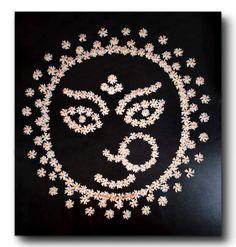 Rangoli Designs Flower, Rangoli Patterns, Rangoli Ideas, Rangoli Designs With Dots, Rangoli Designs Diwali, Flower Rangoli, Diwali Rangoli, Mehndi Designs, Thali Decoration Ideas