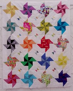 half-square triangle quilts | Little Island Quilting: Half square triangle pinwheel quilt | Quilts