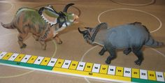 Comparing two CollectA Ceratopsidae models, Medusaceratops on the left and the grey Nasutoceratops on the right. Photograph by Everything Dinosaur.