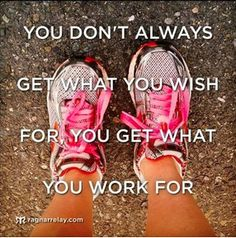 """You don't always get what you wish for, you get what you work for.  To take the ISAGENIX challenge see:  http://dianechamplin.isagenix.com"