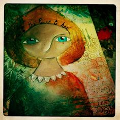 """""""Asha"""" the healer, Mixed Media painting by Nolwenn Petitbois."""