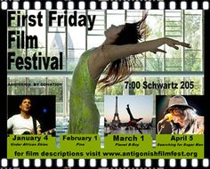 Antigonish International Film Festival First Friday Films