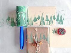 Make Your Own Holiday Cards And Wrapping Paper With These DIY Stamps