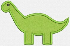 Dinosaur Applique Embroidery Design Instant by OrangeCatEmbroidery, $2.00