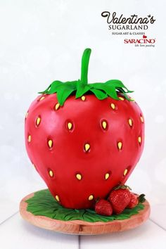 Giant Strawberry by Valentina's Sugarland