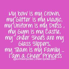 I love this im a cheer princess