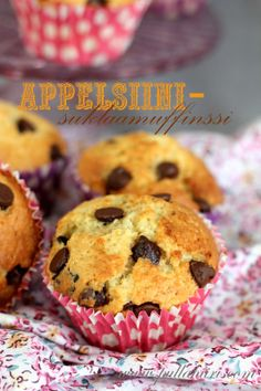 Pullahiiren leivontanurkka: Appelsiini-suklaamuffinssit