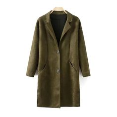 Faux Suede Lapel Coat (4195 RSD) ❤ liked on Polyvore featuring outerwear, coats, brown coat, faux suede coat and lapel coat