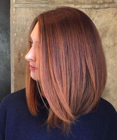 Delightful Mid Length Peachy Copper Hairstyles for Women