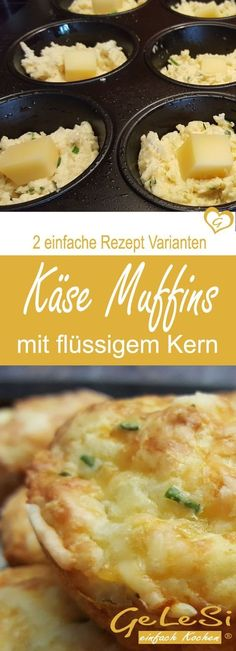 Cheese Muffins Two Simple Basic Recipes - Made Easy and Fast .- Käsemuffins zwei einfache Grund Rezepte – schnell gemacht und unglaublich lecker ❤ Recipe for cheese muffins in two variants - Fingers Food, Good Food, Yummy Food, Brunch Buffet, Cheese Muffins, Party Finger Foods, Brunch Recipes, Pizza Recipes, Cake Recipes