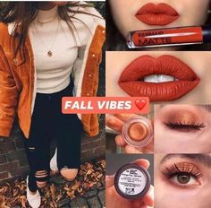 Matte lip in Autumn Story Cream shadow in Orange Pop Fall Eyeshadow Looks, Fall Makeup Looks, Fall Looks, Flawless Foundation Application, Fall Lipstick, Lipstick Swatches, Lipsticks, Farmasi Cosmetics, Scarecrow Makeup