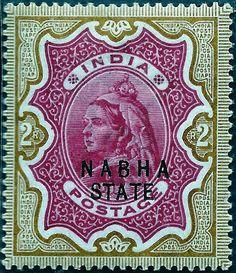 1893 Ceylon Queen Victoria postage stamp